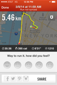 Nike+ Interface