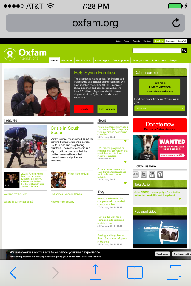 Oxfam International Mobile