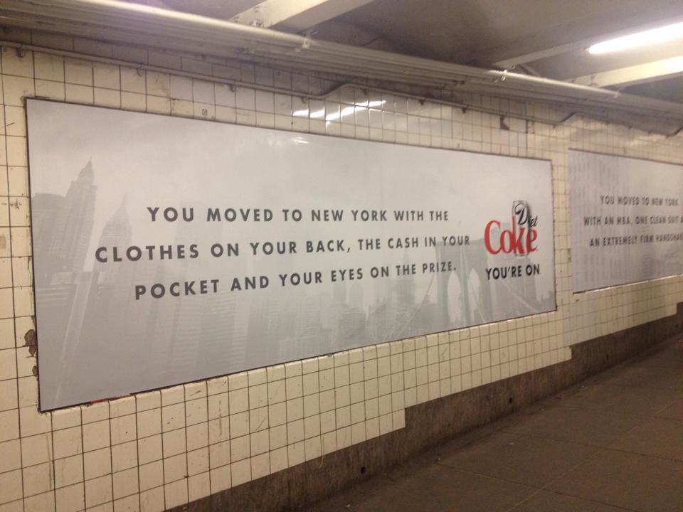Diet Coke NY Subway Campaign 2013